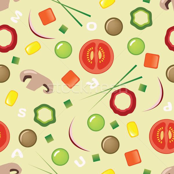 Stok fotoğraf: çorba · model · sanat · et · duvar · kağıdı · domates