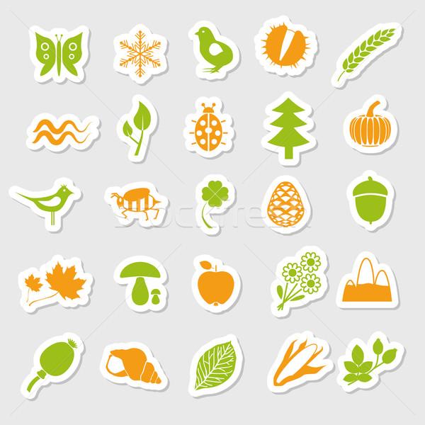 nature stickers Stock photo © glorcza