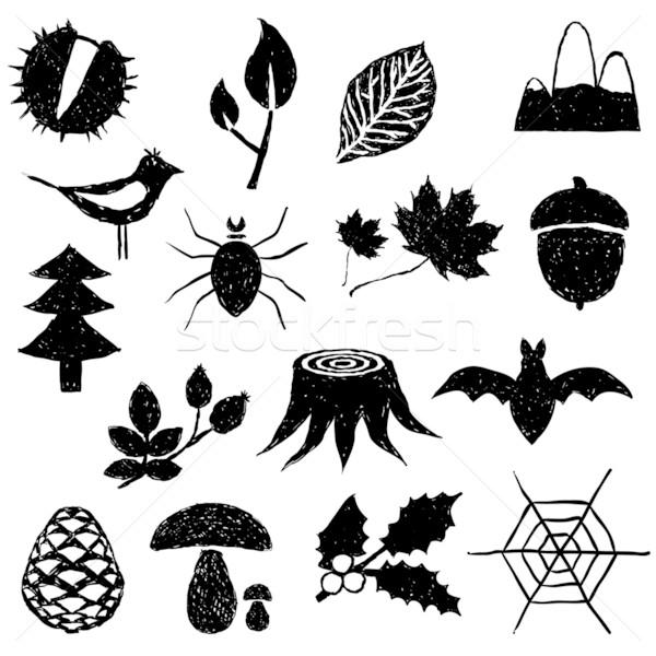 forest doodle images Stock photo © glorcza