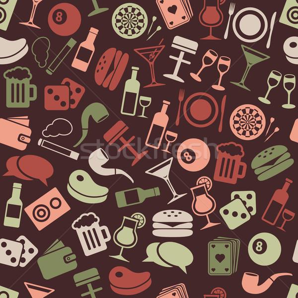 pub seamless pattern Stock photo © glorcza