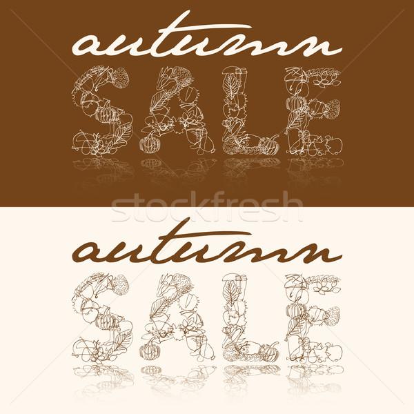 autumn sale Stock photo © glorcza
