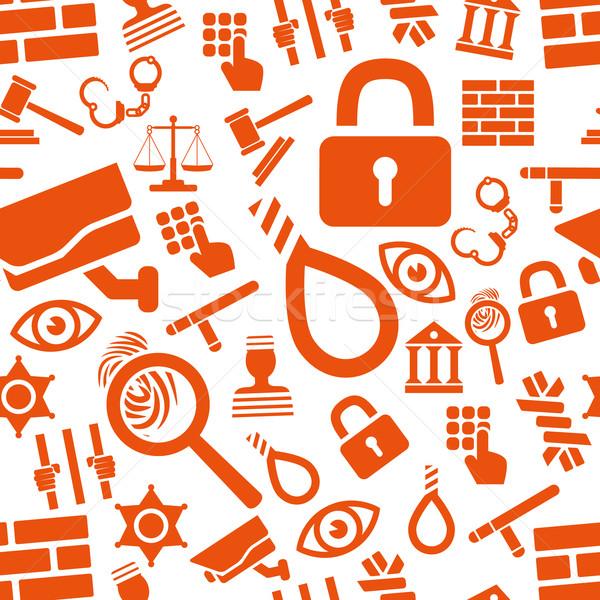 prison seamless pattern Stock photo © glorcza