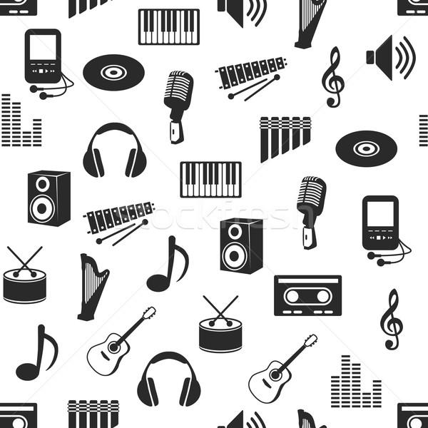 seamless music pattern Stock photo © glorcza