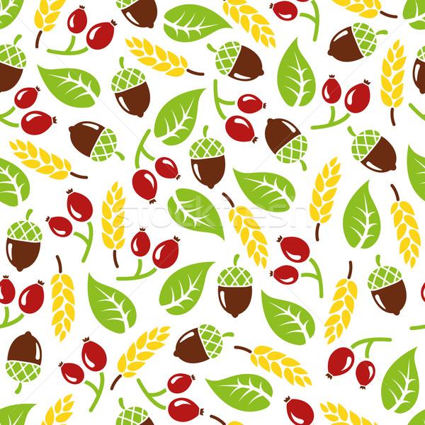 ősz végtelen minta terv háttér szövet minta Stock fotó © glorcza