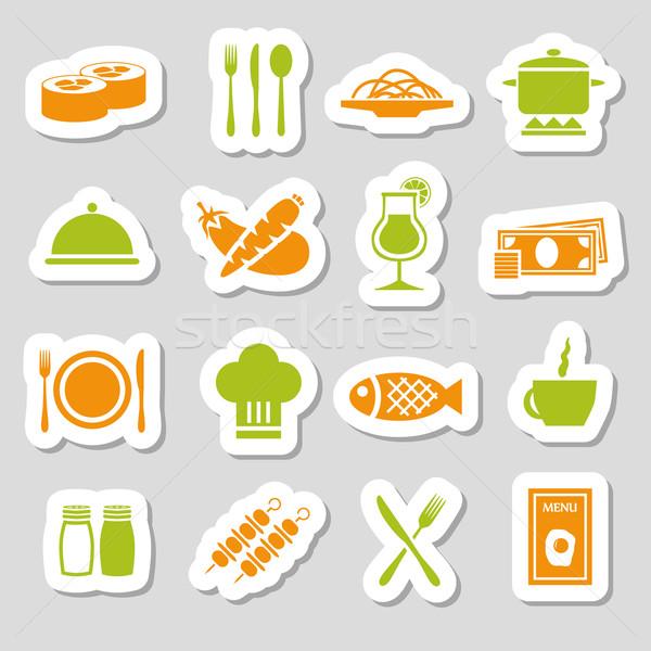 restaurant stickers Stock photo © glorcza