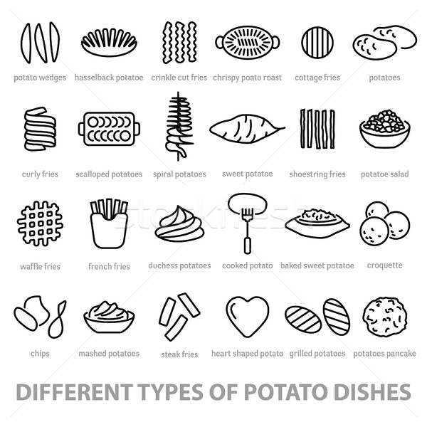 different types of potato dishes Stock photo © glorcza