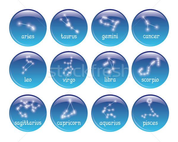 zodiac badges Stock photo © glorcza