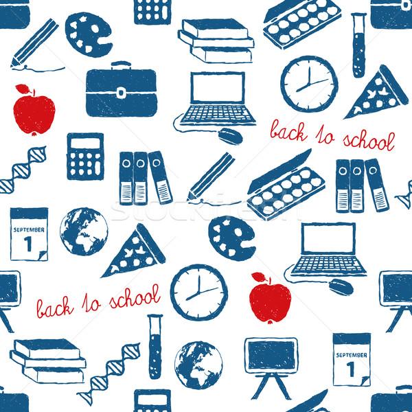back to school doodle pattern Stock photo © glorcza