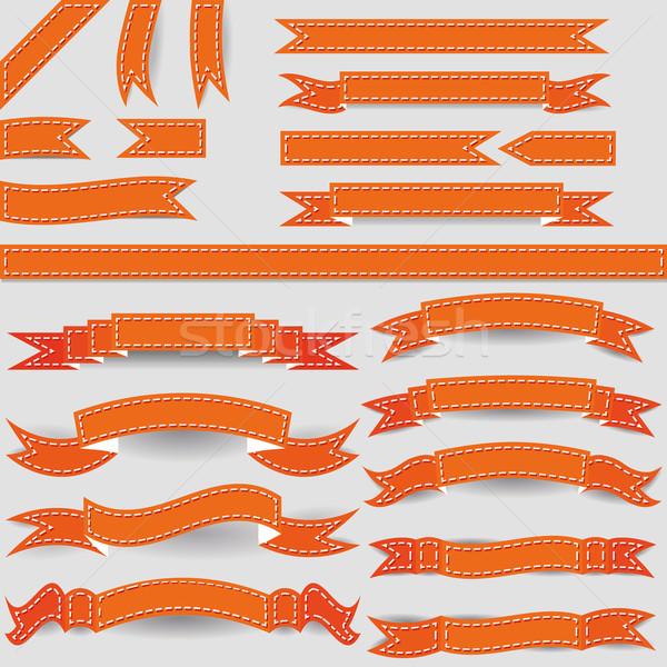 orange ribbons Stock photo © glorcza