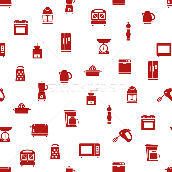 kitchen appliances and tools seamless pattern Stock photo © glorcza
