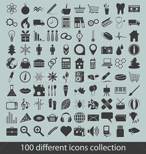 icons collection Stock photo © glorcza