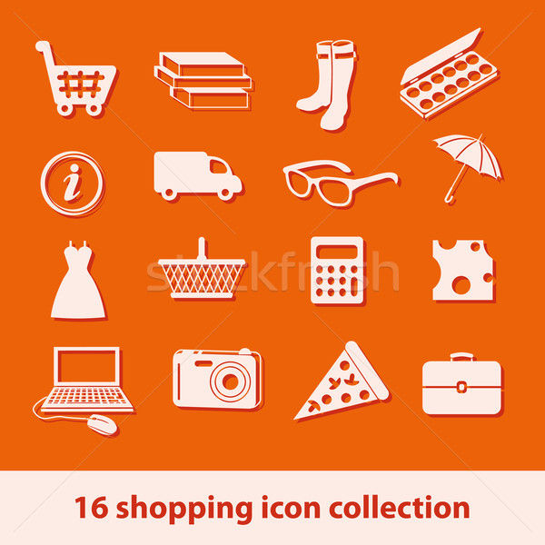 shopping icons Stock photo © glorcza