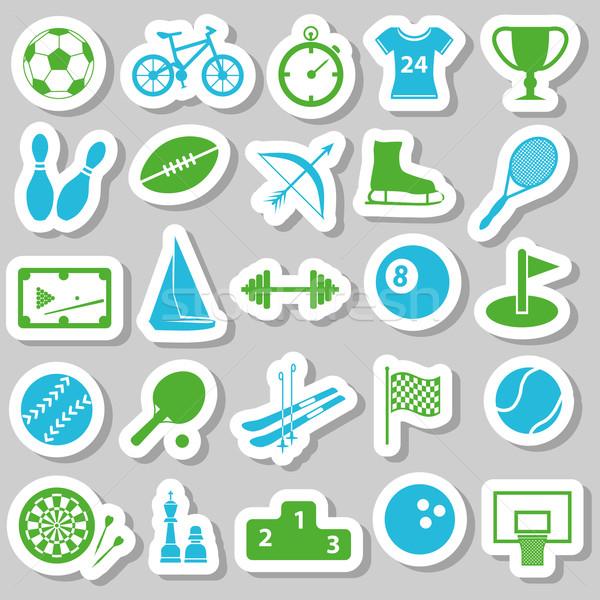 sport stickers Stock photo © glorcza