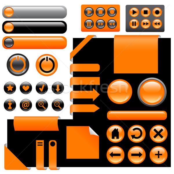Conception de site web boutons orange couleur internet Photo stock © glorcza