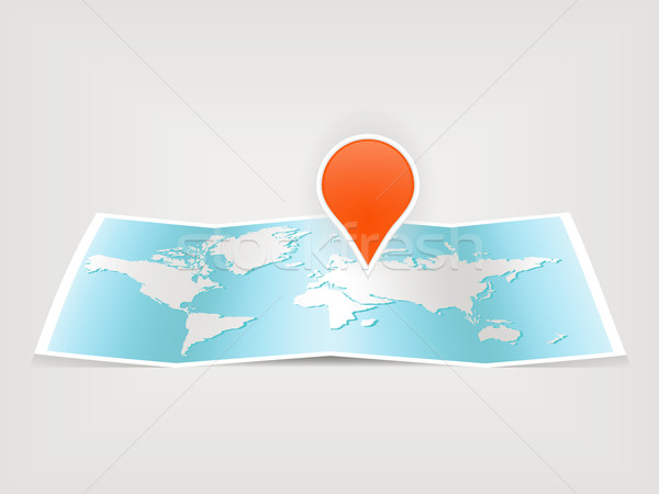 Carte carte du monde monde fond orange signe Photo stock © glorcza