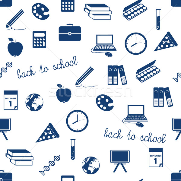 seamless school icons pattern Stock photo © glorcza