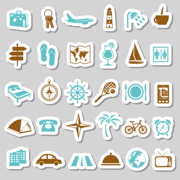 travel and accommodation stickers Stock photo © glorcza