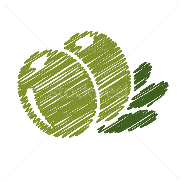 écriture olive nature design fruits pétrolières Photo stock © glorcza