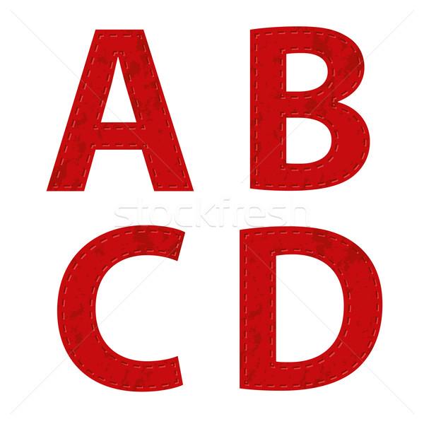 red ribbon alphabet Stock photo © glorcza