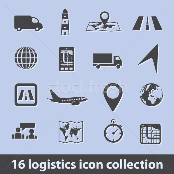 logistic icons Stock photo © glorcza