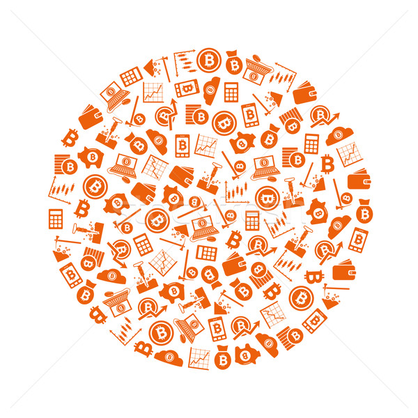 bitcoin icons in circle Stock photo © glorcza
