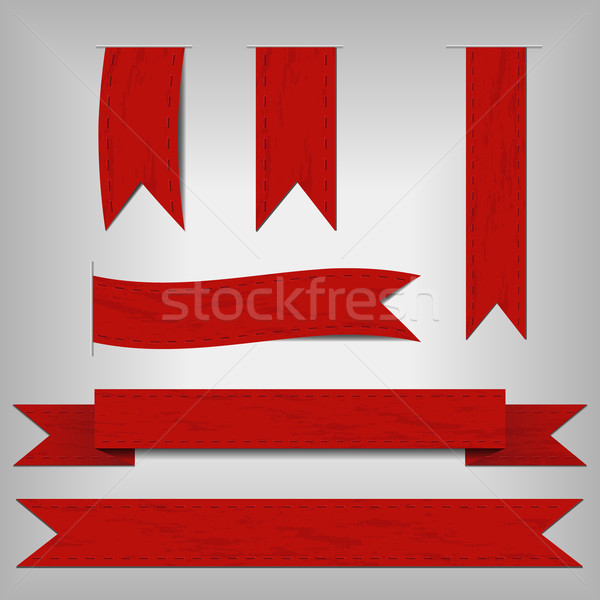 set of red ribbons Stock photo © glorcza