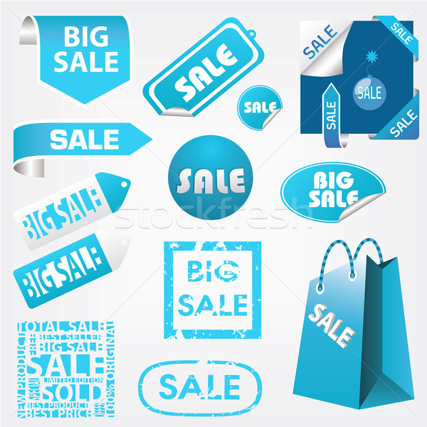 продажи Этикетки набор бизнеса бумаги веб Сток-фото © glorcza