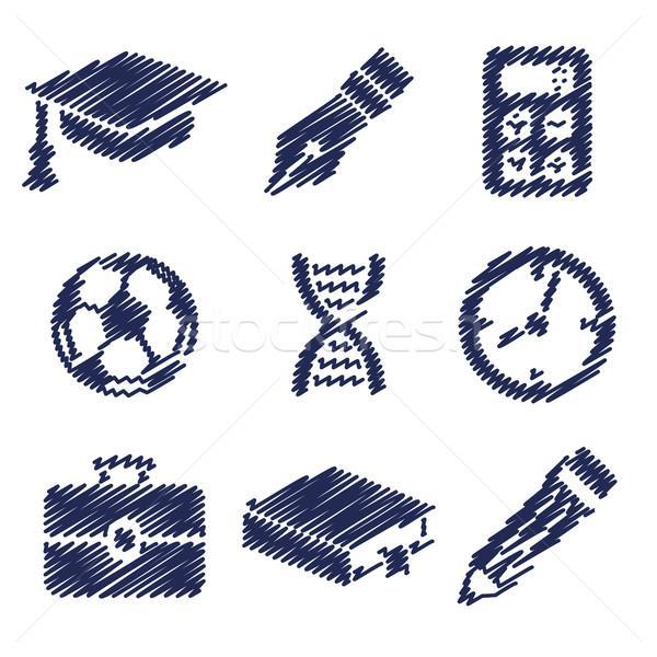 手書き 教育 写真 図書 学校 サッカー ストックフォト © glorcza