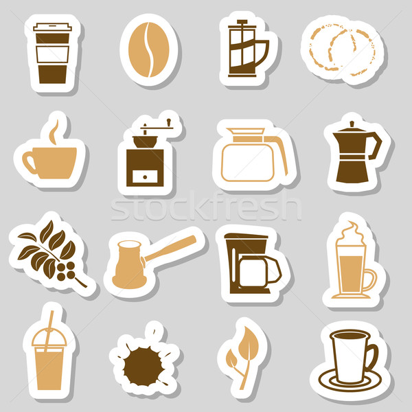 coffee stickers Stock photo © glorcza
