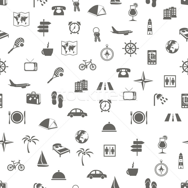 travel and accommodation seamless pattern Stock photo © glorcza