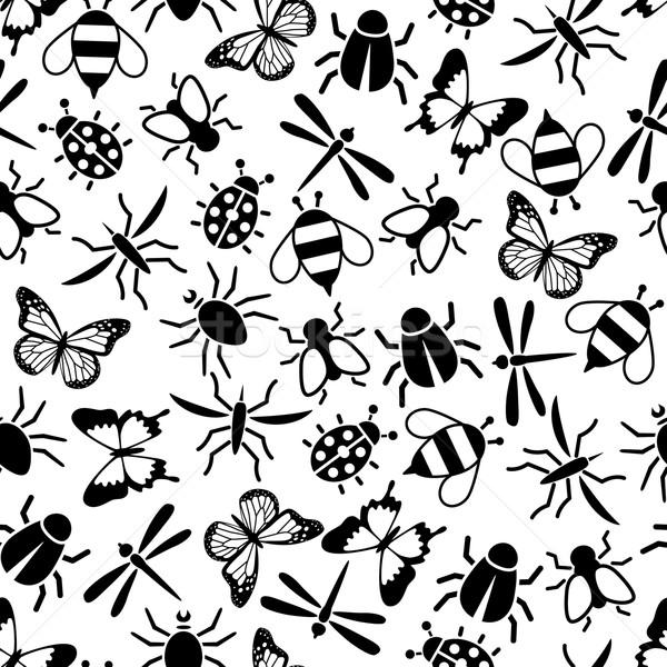 Insect natuur ontwerp weefsel bee Stockfoto © glorcza
