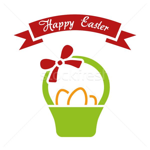 Kellemes húsvétot egyszerű vektor húsvét tavasz étel Stock fotó © glorcza