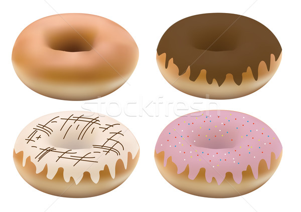 four donuts Stock photo © glorcza