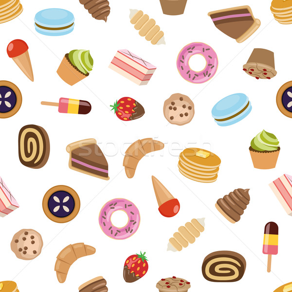 desserts seamless pattern Stock photo © glorcza