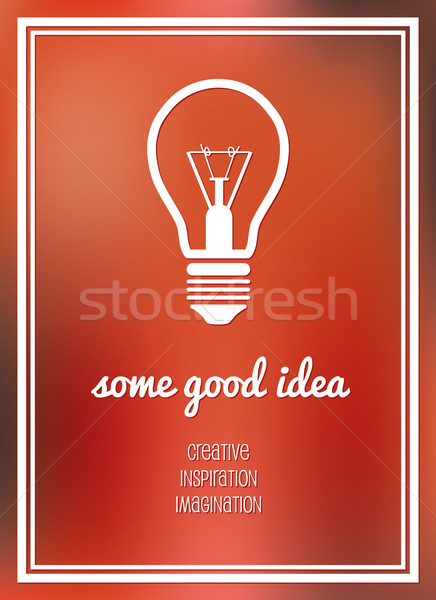 good idea poster Stock photo © glorcza