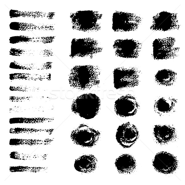черный вектора Гранж искусства чернила щетка Сток-фото © glorcza