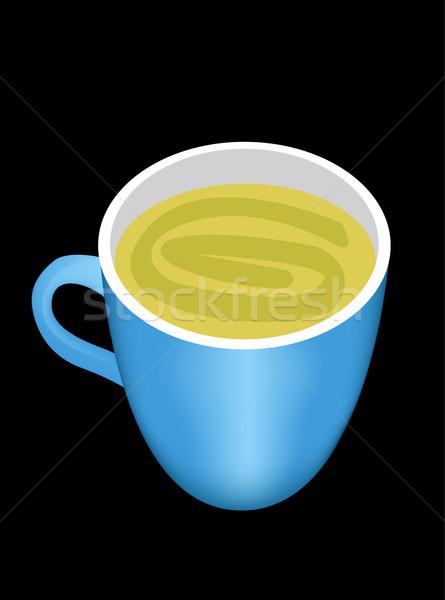 Teáscsésze tea étterem zöld pihen csésze Stock fotó © glorcza