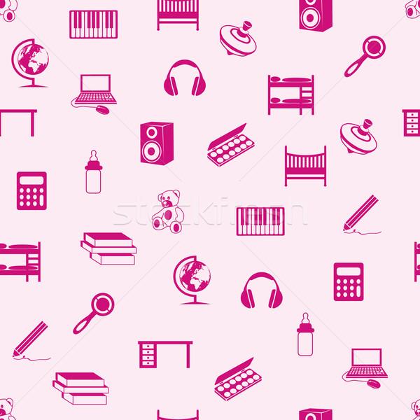 children seamless pattern Stock photo © glorcza