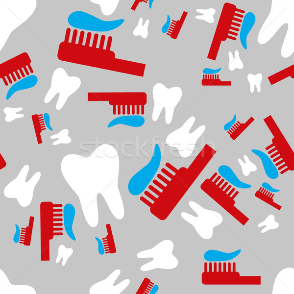 tooth and toothbrush seamless pattern Stock photo © glorcza