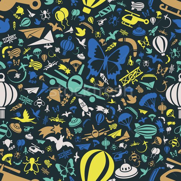 flying seamless pattern Stock photo © glorcza