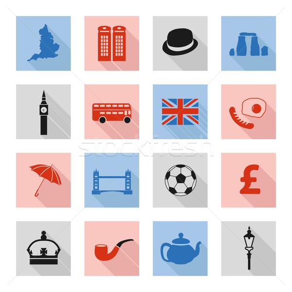 Stock photo: england flat icons