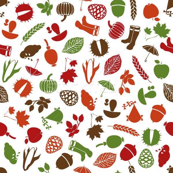 autumn  seamless pattern Stock photo © glorcza