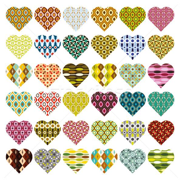 Сток-фото: сердцах · свадьба · сердце · дизайна · искусства · ретро