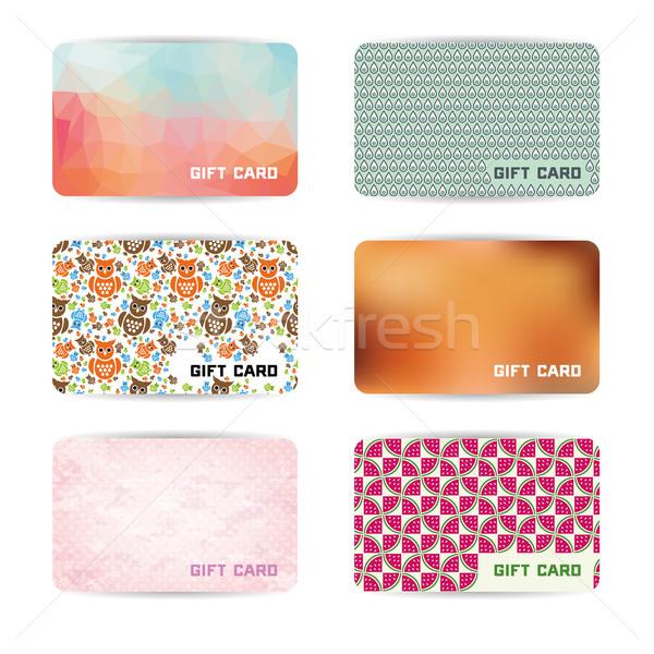 Ajándék kártyák üzlet piac kártya ajándék Stock fotó © glorcza