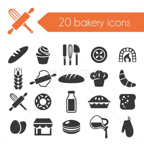 bakery icons Stock photo © glorcza