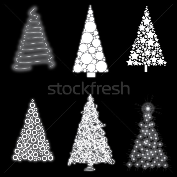 christmas trees Stock photo © glorcza
