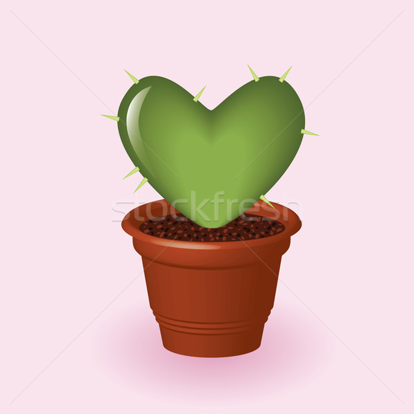 heart cactus Stock photo © glorcza