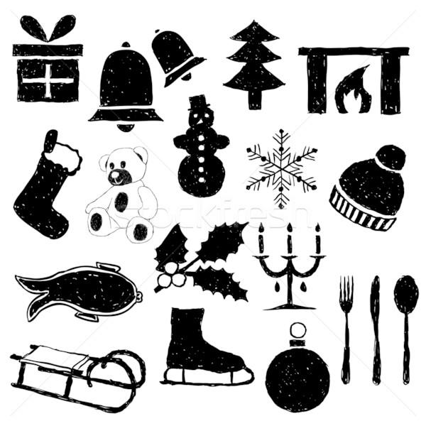 doodle christmas images Stock photo © glorcza