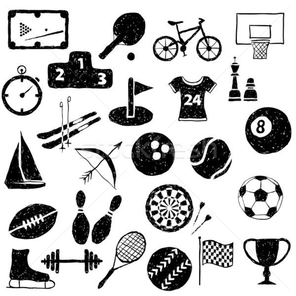 doodle sport images Stock photo © glorcza
