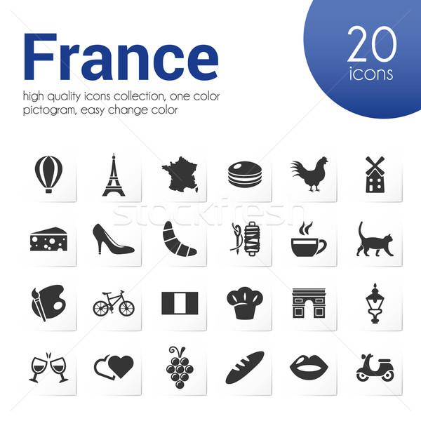 france icons Stock photo © glorcza